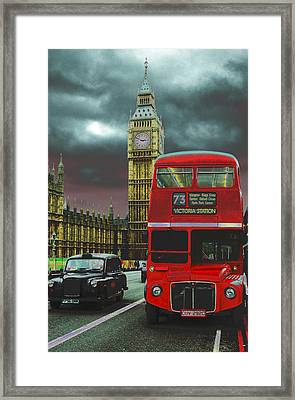 London Framed Print by Kobby Dagan