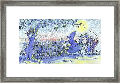 London Lay Before Us Framed Print by Yvonne Ayoub
