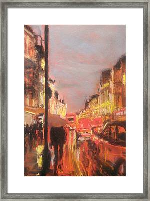 London Lights Framed Print by Paul Mitchell