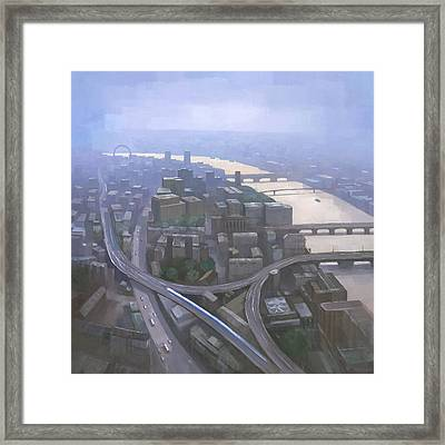 London, Looking West From The Shard Framed Print by Steve Mitchell