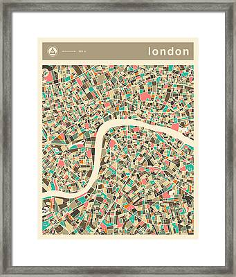 London Map 2 Framed Print by Jazzberry Blue