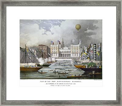London: Market, 1833 Framed Print