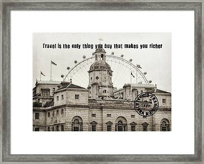 London Old And New Quote Framed Print by JAMART Photography