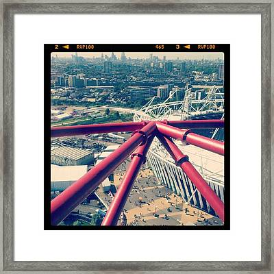 #london #olympicpark #skyline #views Framed Print