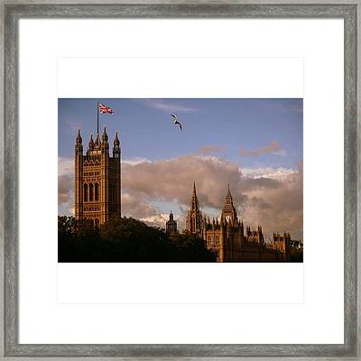#london #parliamenthouse #westminster Framed Print by Ozan Goren