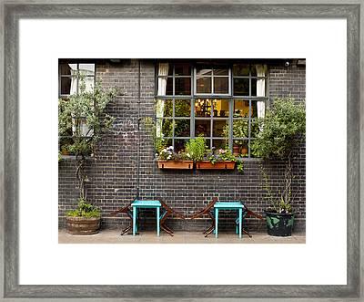 London Patio Framed Print by Rae Tucker