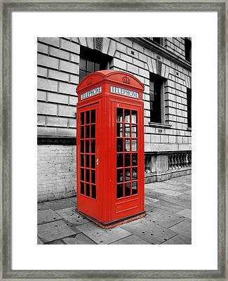 London Phone Booth Framed Print by Rhianna Wurman