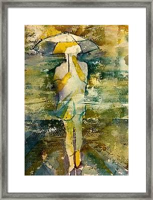 London Rain Theme Framed Print
