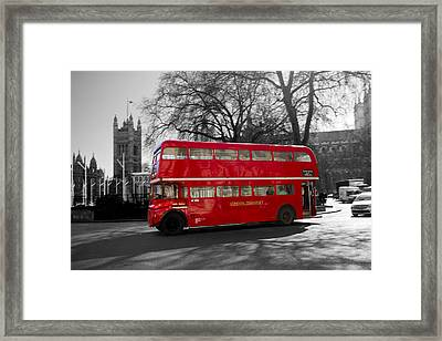 London Red Bus Framed Print by David French
