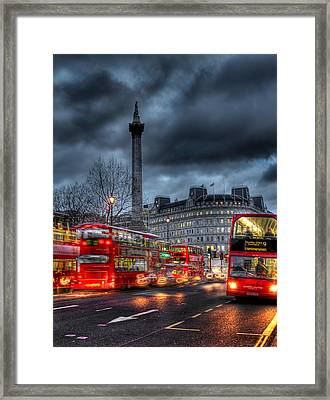 London Red Buses Framed Print by Jasna Buncic