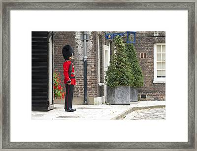 London Royal Guard Framed Print by Travis Rogers