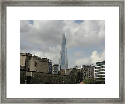 London Shard And Tower Framed Print