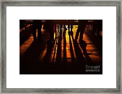 London Silhouettes Framed Print