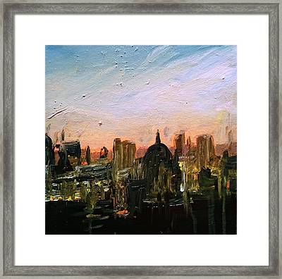 London Skyline Dawn Framed Print by Paul Mitchell