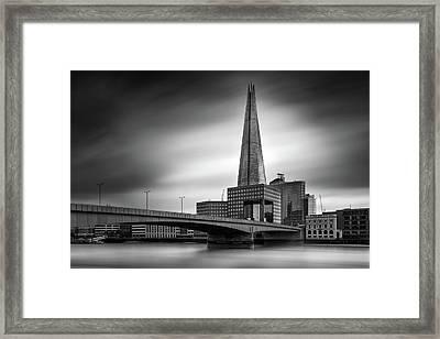 London Skyline In Monochrome Framed Print