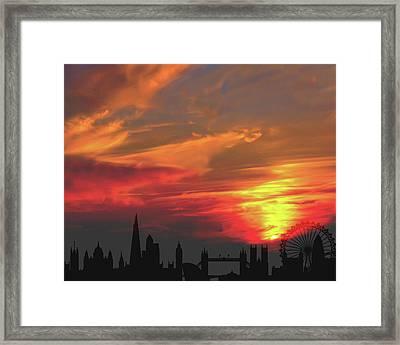 Sunset London Framed Print