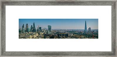 Framed Print featuring the photograph London Skyline by Stewart Marsden