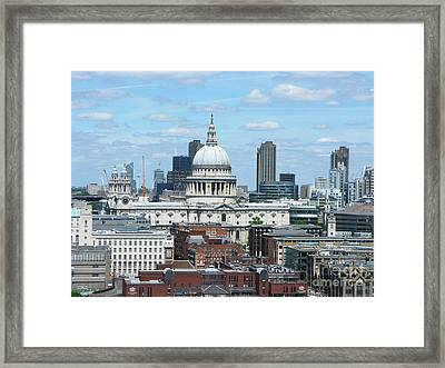 London Skyscrape - St. Paul's Framed Print
