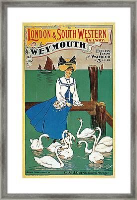 London South Western Railway Weymouth Framed Print by Adrianne Adrian Loder