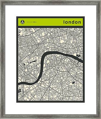 London Street Map Framed Print by Jazzberry Blue