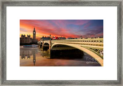 London Sunset Framed Print by Adrian Evans