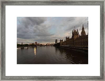 London Sunset Framed Print by Georgia Mizuleva