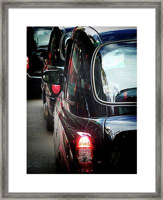 London Taxis  Framed Print