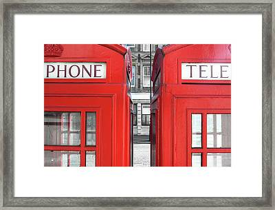 London Telephones Framed Print by Richard Newstead