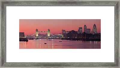 London Thames Framed Print by Thomas M Pikolin