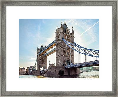Framed Print featuring the photograph London - The Majestic Tower Bridge by Hannes Cmarits