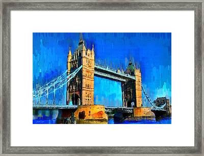 London Tower Bridge 1 - Da Framed Print by Leonardo Digenio