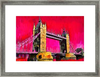 London Tower Bridge 10 - Da Framed Print
