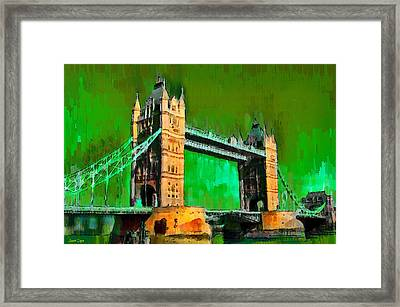 London Tower Bridge 11 - Da Framed Print