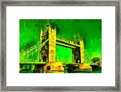 London Tower Bridge 17 - Da Framed Print
