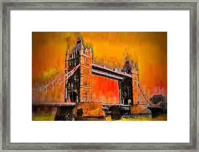 London Tower Bridge 19 - Da Framed Print by Leonardo Digenio