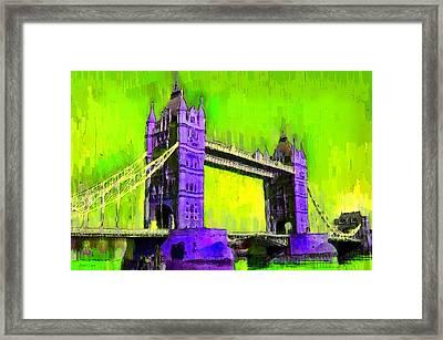 London Tower Bridge 4 - Da Framed Print by Leonardo Digenio