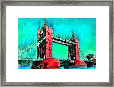 London Tower Bridge 5 - Da Framed Print by Leonardo Digenio