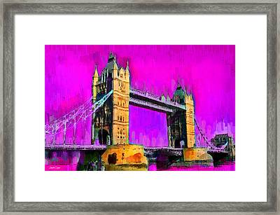 London Tower Bridge 9 - Pa Framed Print by Leonardo Digenio