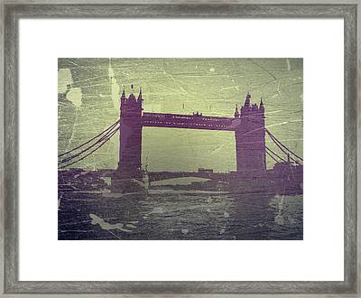 London Tower Bridge Framed Print by Naxart Studio