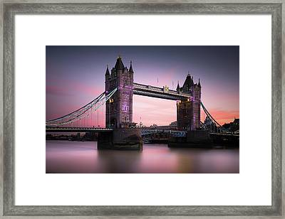 London, Tower Bridge Sunset Framed Print by Ivo Kerssemakers