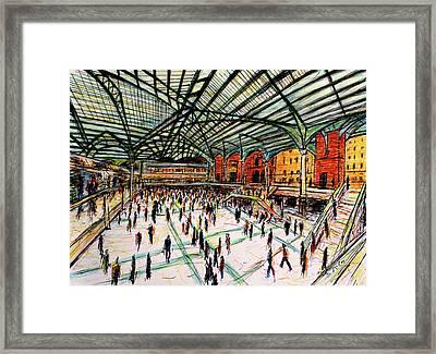 London Train Station Framed Print