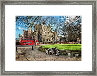 London Transport Framed Print by Adrian Evans