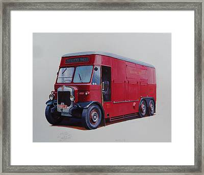 Framed Print featuring the painting London Transport Wrecker. by Mike Jeffries