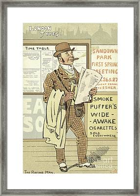 London Types, The Racing Man Framed Print