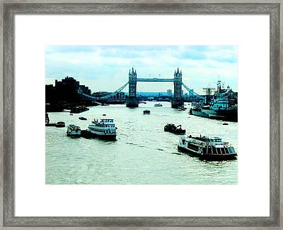 Framed Print featuring the photograph London Uk by Michelle Dallocchio