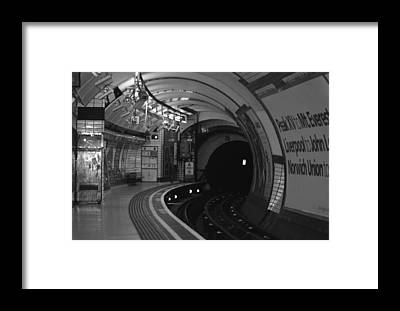 Subway Framed Prints