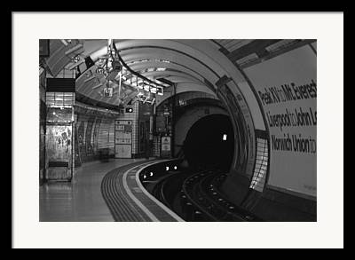 Subway Photographs Framed Prints
