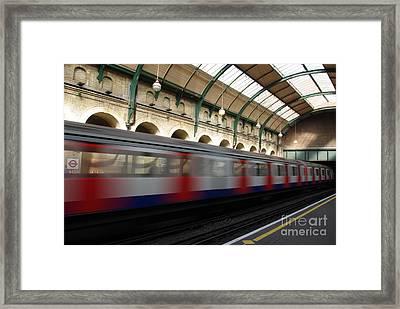 London Underground Framed Print by Catja Pafort