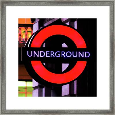 London Underground Sign Framed Print by Tony Grider