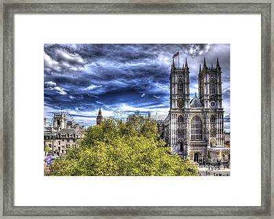 London Westminster Abbey Surreal Framed Print